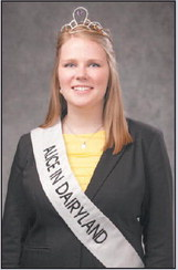 72nd Alice In Dairyland To Attend  Agromatic Holstein Futurity