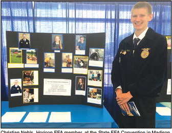 Nehls Places Fourth In Wisconsin FFA Poultry Production Award