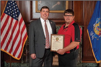 Local First Responder  Recognized By State Assembly