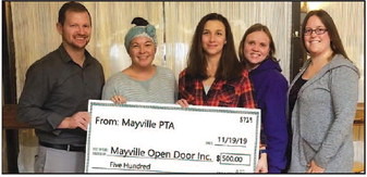 Mayville PTA Donates Funds To Open Door