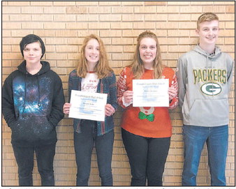CHS December Students Of The Month