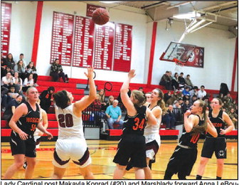 Renewed Rivalry Goes To Red As  Lady Cards Top Marshladies