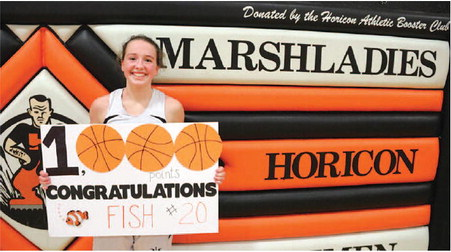Marvin The Marshlady Joins Horicon's  Parquet Primacy, Scores 1,000th Point