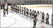 High School Hockey Team Honors 1st Lt. David Johnson Of  Mayville, Other Soldiers For 2019-20 Season