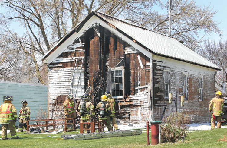 Old Eden Town Hall Damaged By Fire