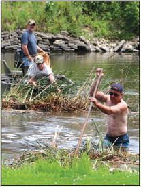 The Bog Boys Of Summer, Locals  Open Waterway Under Horicon Bridge