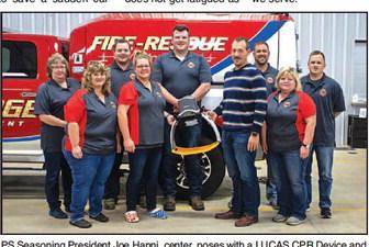 PS Seasoning Donates Life Saving  Machine To Iron Ridge Community