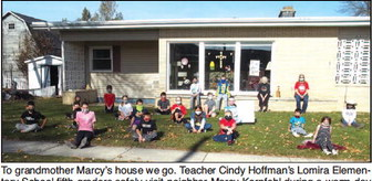 Waving To Marcy, Lomira Fifth Graders' Daily Ritual A Lesson In Kindness